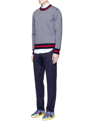 Figure View - Click To Enlarge - Gucci - Bee embroidery pocket track pants