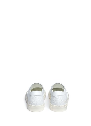 Back View - Click To Enlarge - Common Projects - Perforated leather skate slip-ons