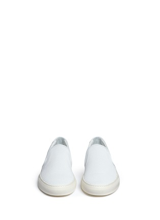 Front View - Click To Enlarge - Common Projects - Perforated leather skate slip-ons