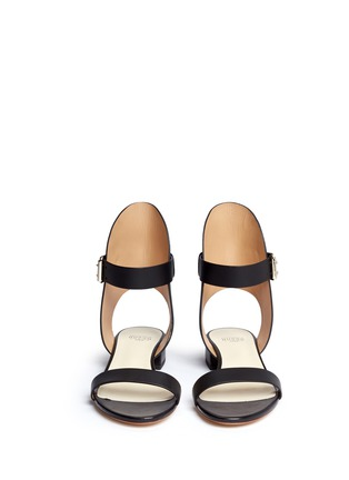 Front View - Click To Enlarge - Francesco Russo - High collar leather sandals