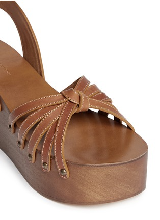 Detail View - Click To Enlarge - Isabel Marant Étoile - 'Zia' leather strap clog wedge sandals
