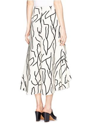 Back View - Click To Enlarge - Ellery - 'Olympia' vine print crepe skirt