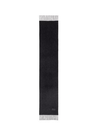 Detail View - Click To Enlarge - ARMANI COLLEZIONI - Glen plaid cashmere scarf