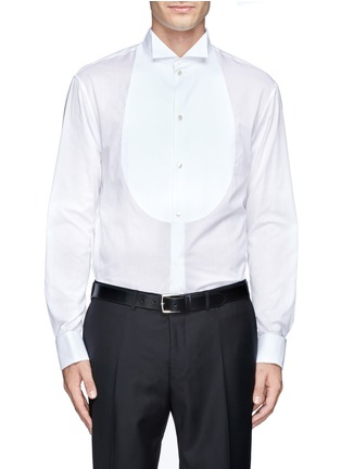 Main View - Click To Enlarge - Armani Collezioni - Pinwale bib tuxedo shirt