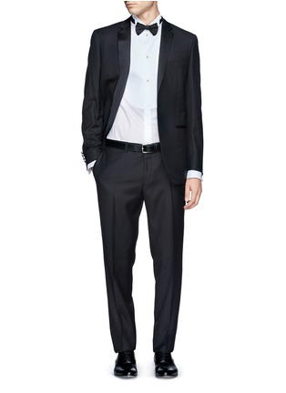 Figure View - Click To Enlarge - Armani Collezioni - Pinwale bib tuxedo shirt