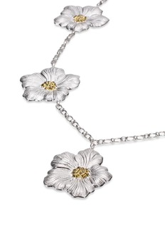 Buccellati 'Gardenia Flower' gold silver station necklace