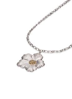 Buccellati 'Gardenia Flower' gold silver pendant necklace