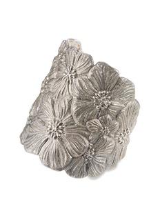 Buccellati 'Gardenia Flower' silver cuff