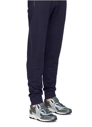 Figure View - Click To Enlarge - Lanvin - Mixed media running sneakers