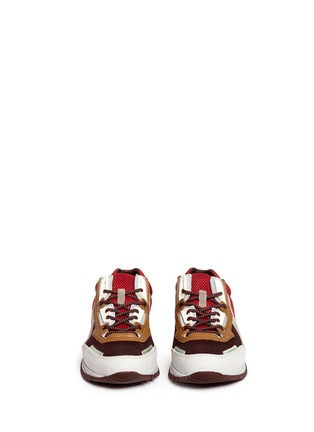Front View - Click To Enlarge - Lanvin - Mixed media running sneakers