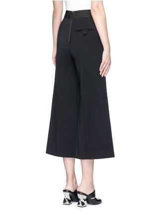Back View - Click To Enlarge - self-portrait - 'Natasha' pintuck seam culottes