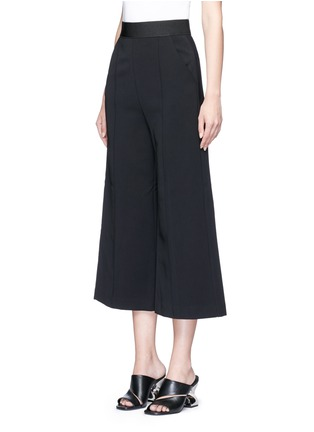 Front View - Click To Enlarge - self-portrait - 'Natasha' pintuck seam culottes