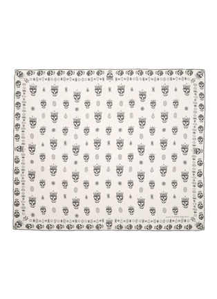 Main View - Click To Enlarge - ALEXANDER MCQUEEN - 'Kings & Queens' skull silk chiffon scarf