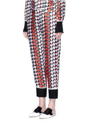 Front View - Click To Enlarge - VICTORIA, VICTORIA BECKHAM - Strawberry cherry print silk twill pyjama pants