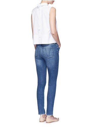 Figure View - Click To Enlarge - VICTORIA, VICTORIA BECKHAM - Tie back poplin sleeveless shirt