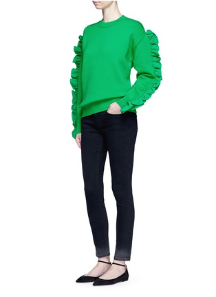 Figure View - Click To Enlarge - VICTORIA, VICTORIA BECKHAM - Ruffle sleeve sweater