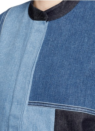 Detail View - Click To Enlarge - VICTORIA, VICTORIA BECKHAM - Patchwork denim jacket