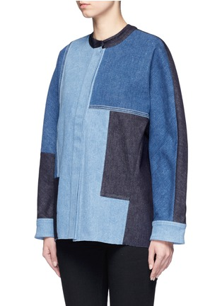 Front View - Click To Enlarge - VICTORIA, VICTORIA BECKHAM - Patchwork denim jacket