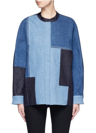 Main View - Click To Enlarge - VICTORIA, VICTORIA BECKHAM - Patchwork denim jacket