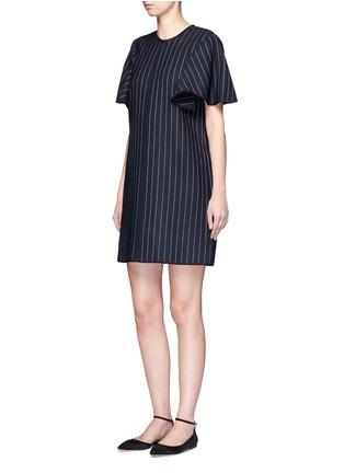 Figure View - Click To Enlarge - VICTORIA, VICTORIA BECKHAM - Pinstripe wool blend shift dress