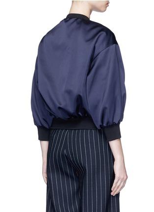 Back View - Click To Enlarge - VICTORIA, VICTORIA BECKHAM - Duchesse satin bomber jacket