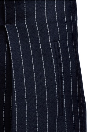 Detail View - Click To Enlarge - VICTORIA, VICTORIA BECKHAM - Pinstripe wool blend slouch pants