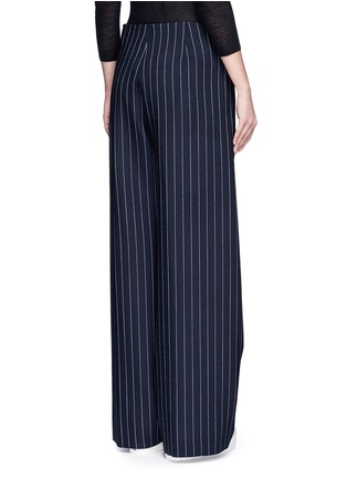 Back View - Click To Enlarge - VICTORIA, VICTORIA BECKHAM - Pinstripe wool blend slouch pants