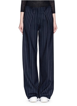 Main View - Click To Enlarge - VICTORIA, VICTORIA BECKHAM - Pinstripe wool blend slouch pants
