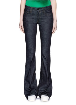 Detail View - Click To Enlarge - VICTORIA, VICTORIA BECKHAM - Cotton blend flared jeans