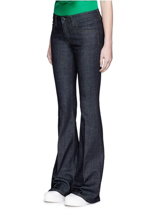 Front View - Click To Enlarge - VICTORIA, VICTORIA BECKHAM - Cotton blend flared jeans