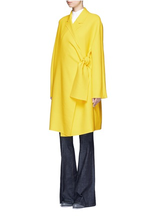 Figure View - Click To Enlarge - VICTORIA, VICTORIA BECKHAM - Tie front twill coat