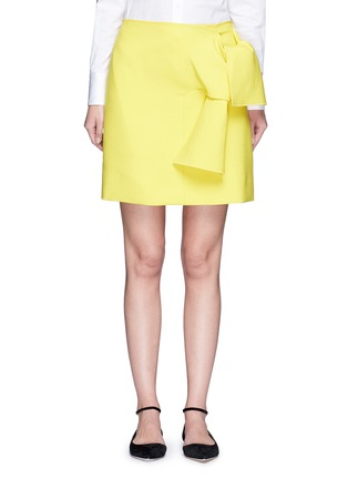 Main View - Click To Enlarge - VICTORIA, VICTORIA BECKHAM - Tie front twill skirt