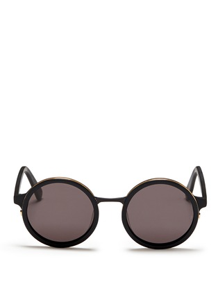 Main View - Click To Enlarge - SUNDAY SOMEWHERE - Soleil' round frame acetate sunglasses