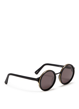 Figure View - Click To Enlarge - SUNDAY SOMEWHERE - Soleil' round frame acetate sunglasses