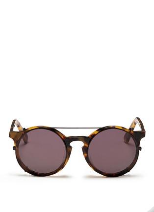 Main View - Click To Enlarge - SUNDAY SOMEWHERE - 'Matahari' clip-on wire rim round sunglasses