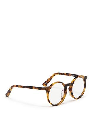 Figure View - Click To Enlarge - SUNDAY SOMEWHERE - 'Matahari' clip-on wire rim round sunglasses