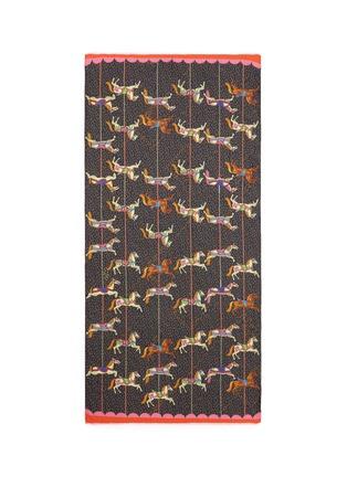 Main View - Click To Enlarge - Karen Mabon - 'Carousel' modal-cashmere scarf