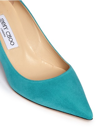 Detail View - Click To Enlarge - JIMMY CHOO - 'Aurora' suede pumps