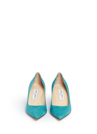 Front View - Click To Enlarge - JIMMY CHOO - 'Aurora' suede pumps