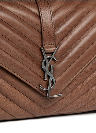 Detail View - Click To Enlarge - SAINT LAURENT - 'Monogram Collège' medium matelassé leather bag