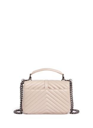 Back View - Click To Enlarge - SAINT LAURENT - 'Monogram Collège' medium matelassé leather bag