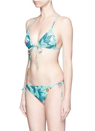 Figure View - Click To Enlarge - Mara Hoffman - Crisscross back leaf print triangle bikini top