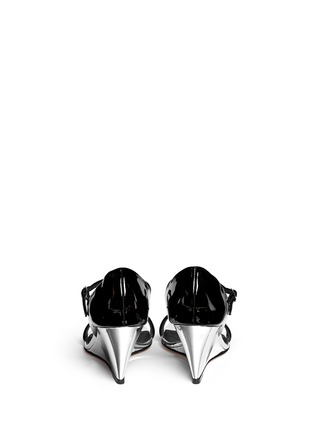 Back View - Click To Enlarge - Giuseppe Zanotti Design - 'Coline' patent leather metallic wedge pumps
