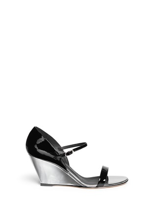 Main View - Click To Enlarge - Giuseppe Zanotti Design - 'Coline' patent leather metallic wedge pumps