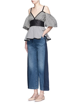 Figure View - Click To Enlarge - Rachel Comey - 'Bishop' contrast panel flare jeans