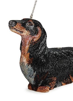 Detail View - Click To Enlarge - Judith Leiber - 'Romeo Dachshund' crystal pavé minaudière