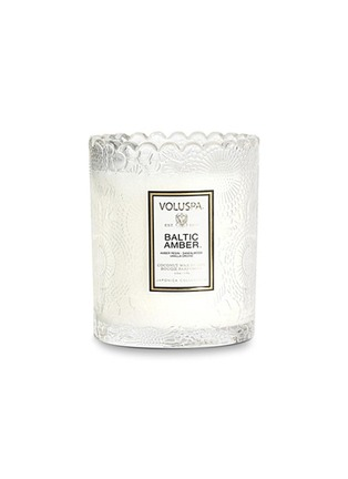 Main View - Click To Enlarge - Voluspa - Japonica Baltic Amber scalloped edge scented candle