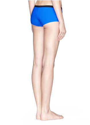 Back View - Click To Enlarge - T By Alexander Wang - Two tone bonded tricot swim boy shorts