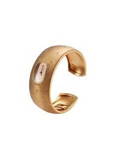Buccellati Watches 'Cleopatra Losanghe Bizantine' engraved 18k rose gold cuff watch