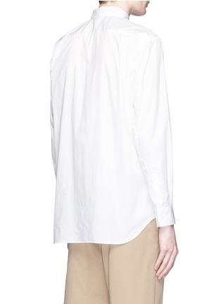 Back View - Click To Enlarge - Comme Des Garçons Shirt - Mount Fuji cutout print shirt